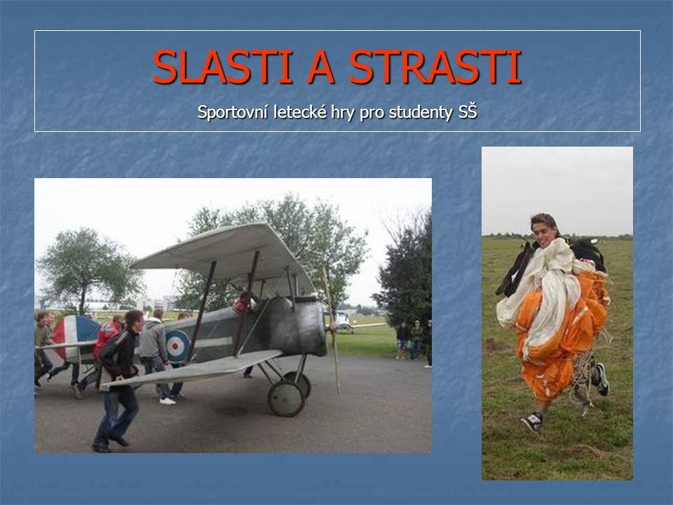 SLASTI A STRASTI Sportovní letecké hry pro studenty SŠ