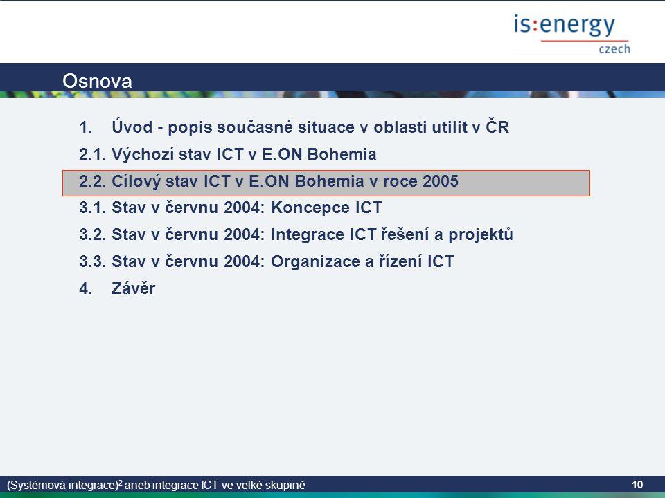 (Systémová integrace) 2 aneb integrace ICT ve velké skupině 10 Osnova 1.