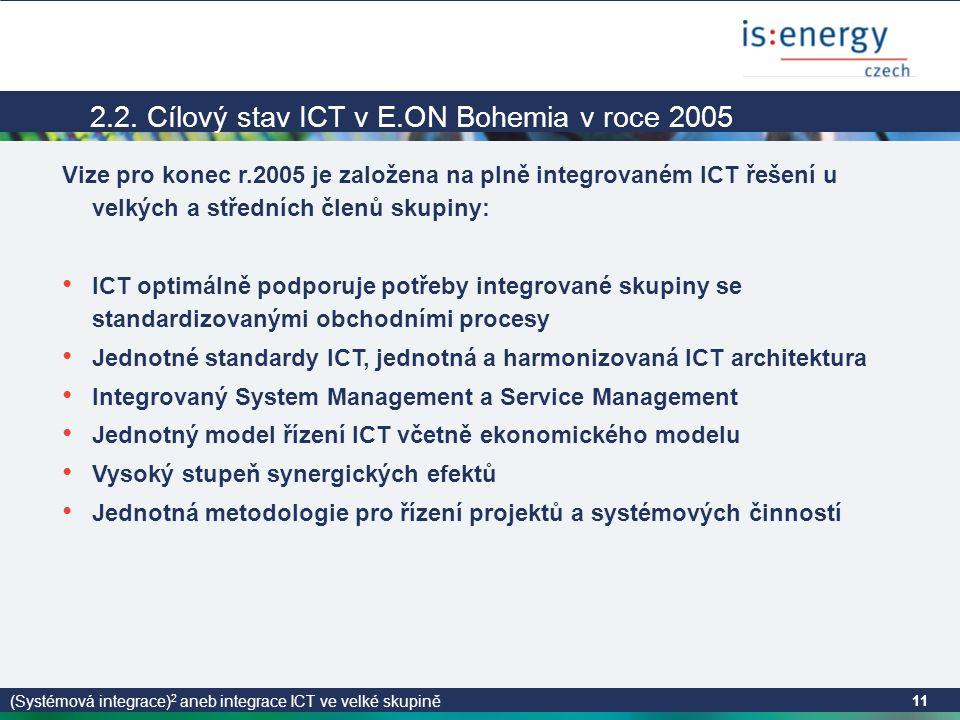 (Systémová integrace) 2 aneb integrace ICT ve velké skupině 11 2.2.
