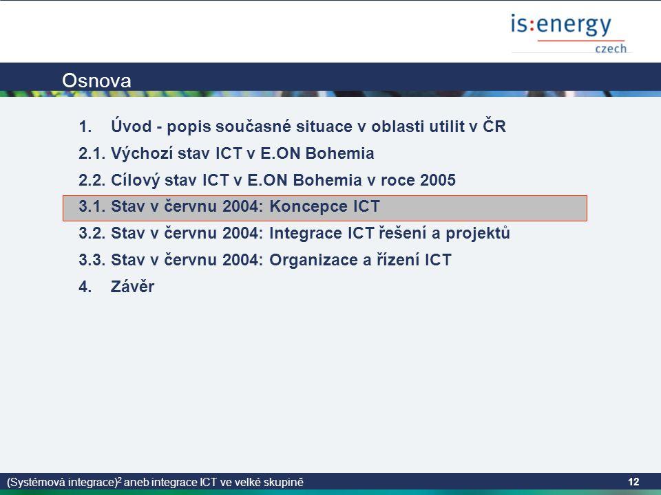 (Systémová integrace) 2 aneb integrace ICT ve velké skupině 12 Osnova 1.