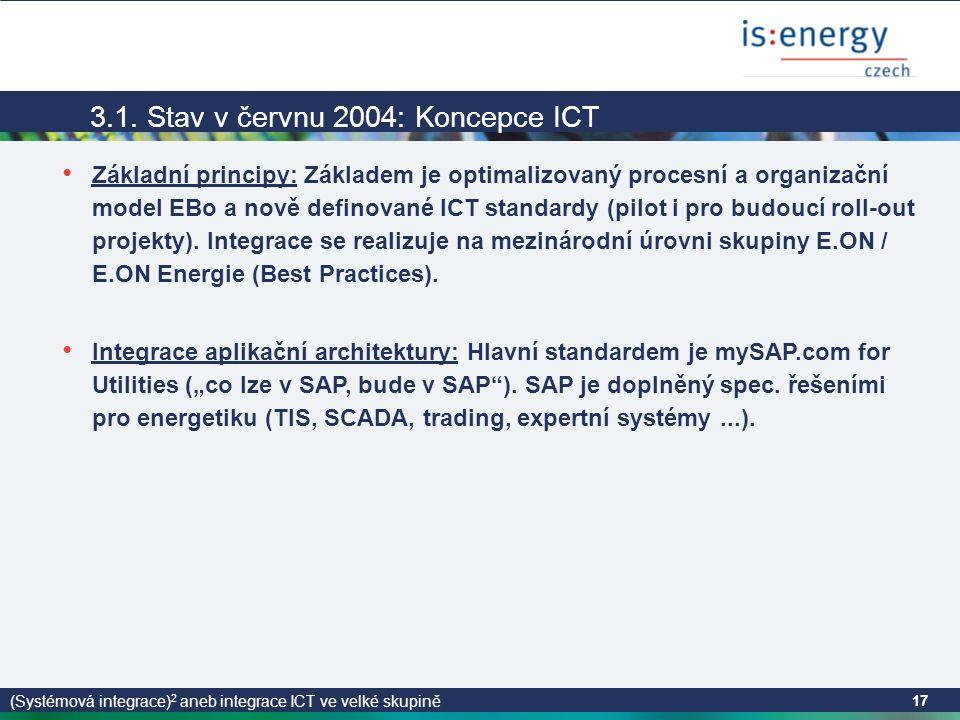 (Systémová integrace) 2 aneb integrace ICT ve velké skupině 17 3.1.