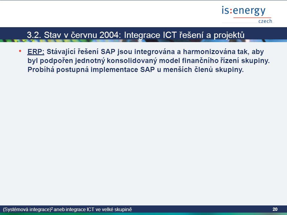 (Systémová integrace) 2 aneb integrace ICT ve velké skupině 20 3.2.