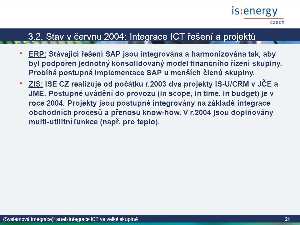 (Systémová integrace) 2 aneb integrace ICT ve velké skupině 21 3.2.