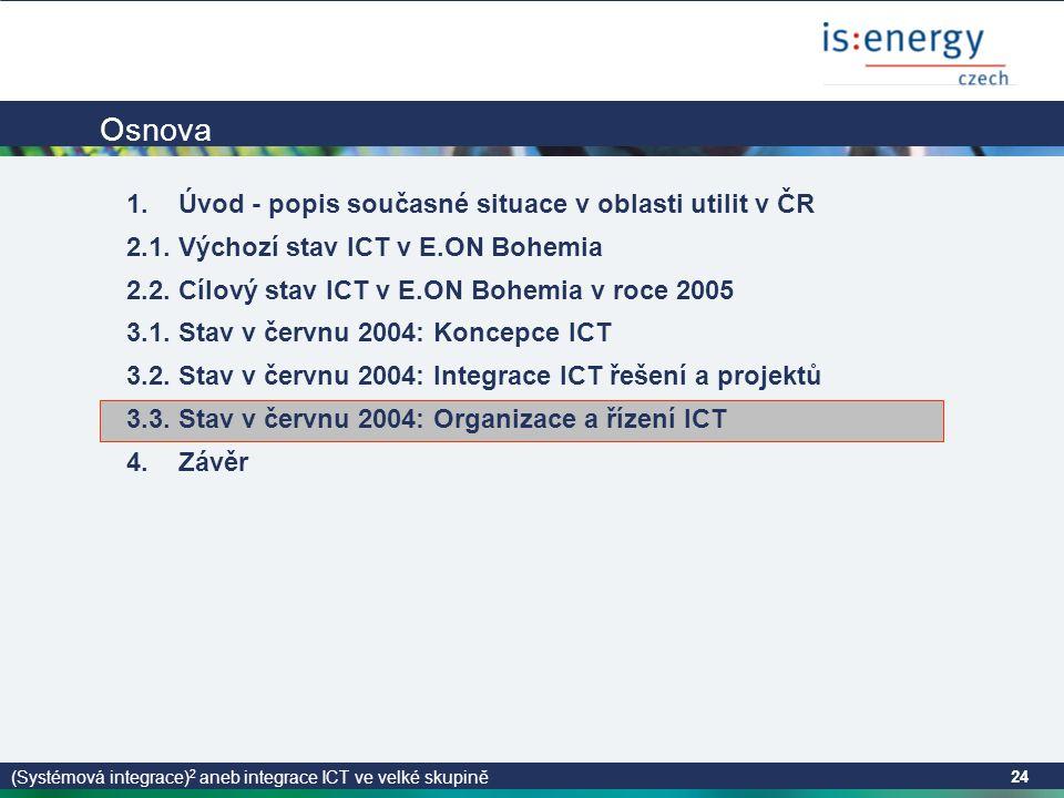 (Systémová integrace) 2 aneb integrace ICT ve velké skupině 24 Osnova 1.