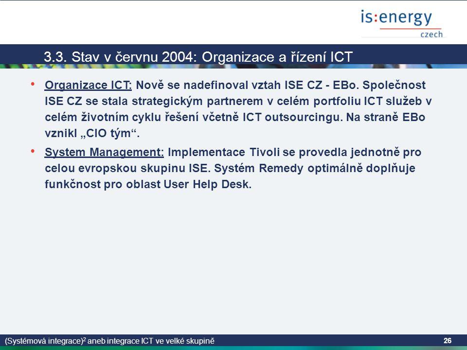 (Systémová integrace) 2 aneb integrace ICT ve velké skupině 26 3.3.