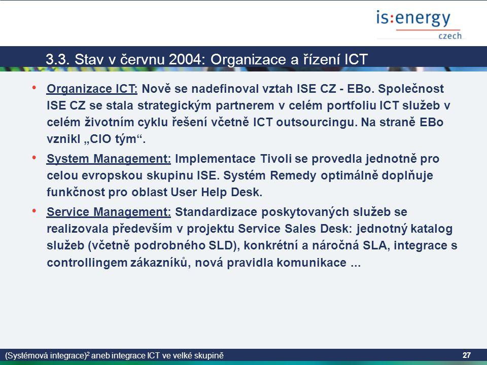 (Systémová integrace) 2 aneb integrace ICT ve velké skupině 27 3.3.