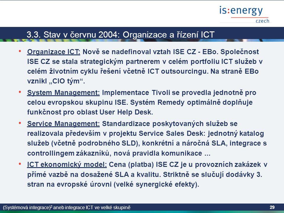 (Systémová integrace) 2 aneb integrace ICT ve velké skupině 29 3.3.