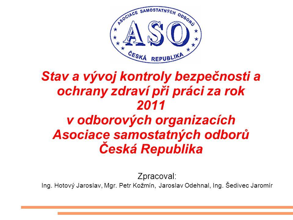 Stav a vývoj kontroly bezpečnosti a ochrany zdraví při práci za rok 2011 v odborových organizacích Asociace samostatných odborů Česká Republika Zpraco