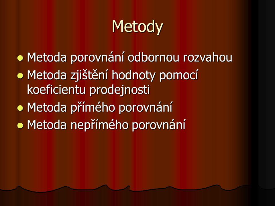 Příklad Oceňte bytový dům v obci Svatoňovice porovnávací metodou.
