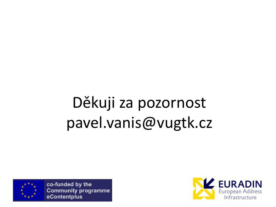 Děkuji za pozornost pavel.vanis@vugtk.cz