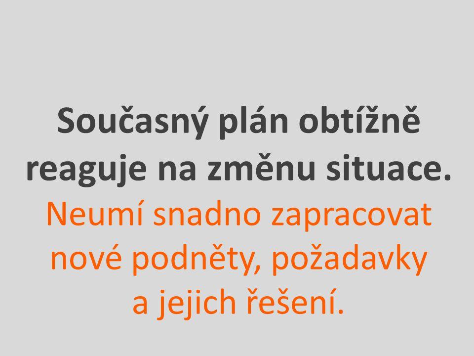 Současný plán obtížně reaguje na změnu situace.