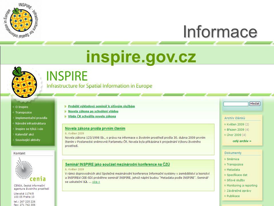 Informace inspire.gov.cz