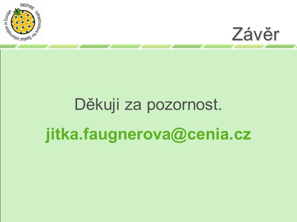 Závěr Děkuji za pozornost. jitka.faugnerova@cenia.cz