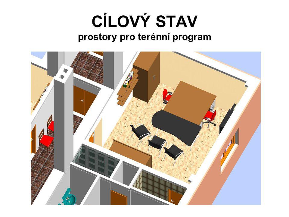 CÍLOVÝ STAV prostory pro terénní program