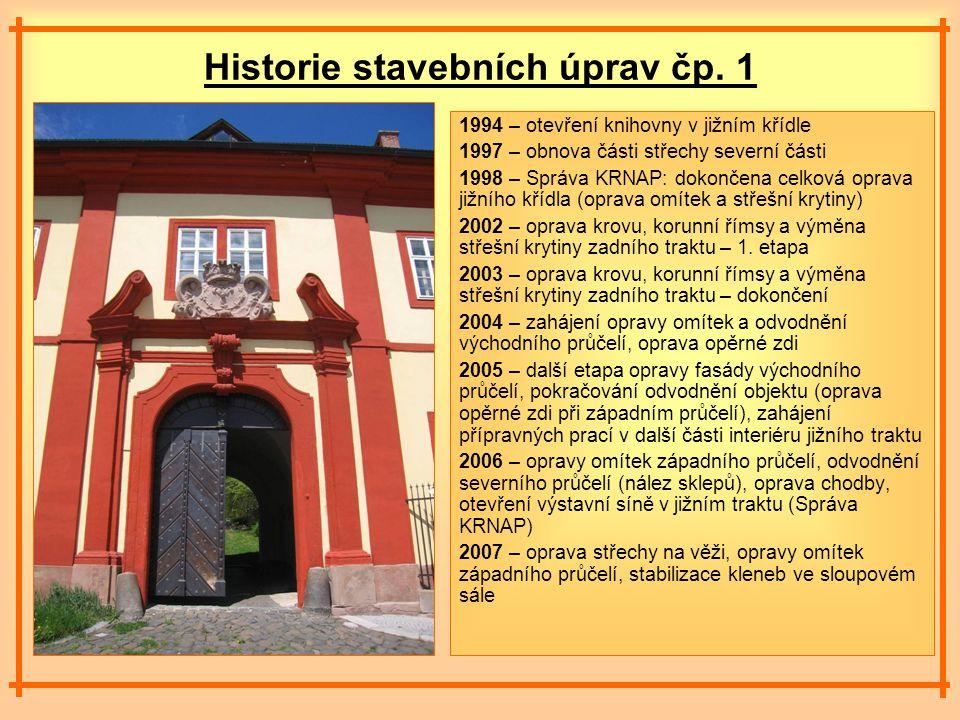 Historie stavebních úprav čp.