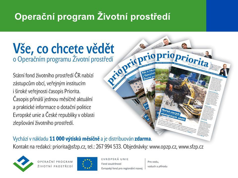 15 Operační program Životní prostředí