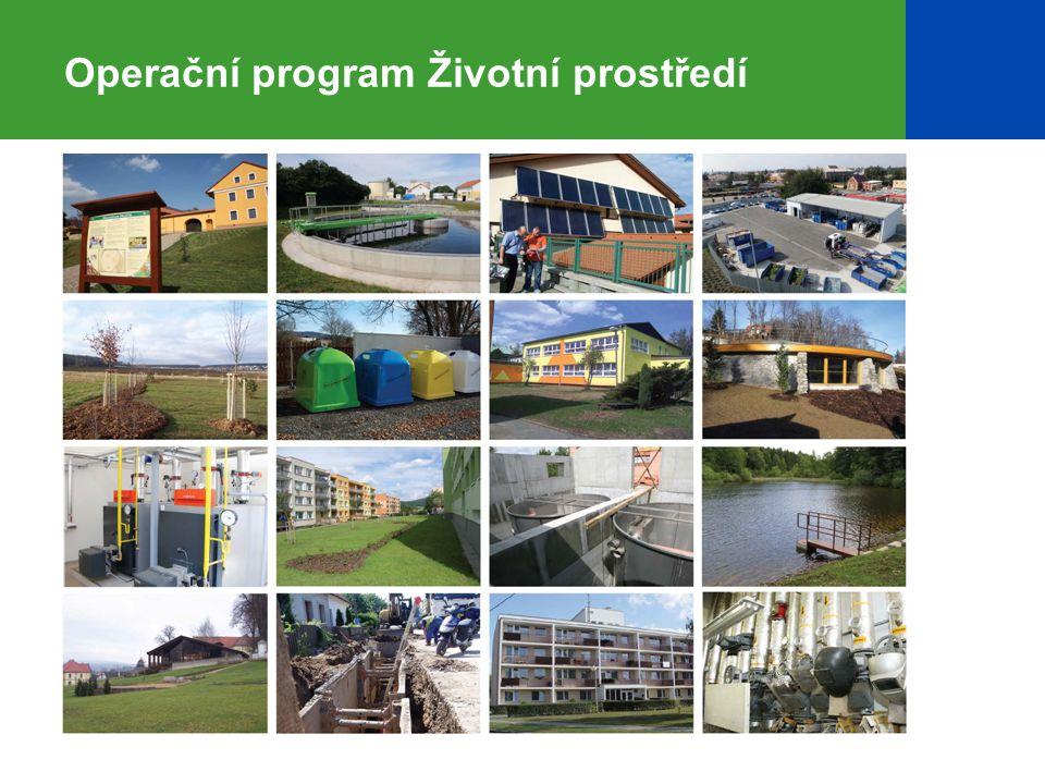 3 OPŽP – druhý největší operační program  finanční nástroj pro čerpání prostředků z fondů Evropské unie  V letech 2007–2013 pro projekty ochrany a zlepšování kvality životního prostředí určeno z Fondu soudržnosti a ERDF 4,9 miliardy €.