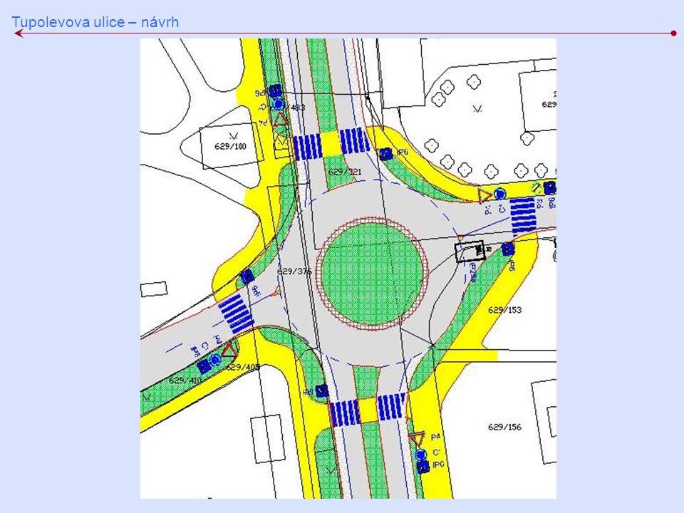Tupolevova ulice – návrh