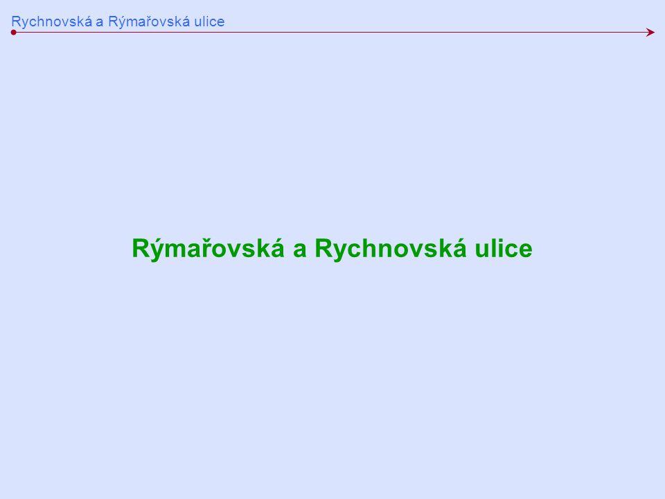 Rychnovská a Rýmařovská ulice Rýmařovská a Rychnovská ulice