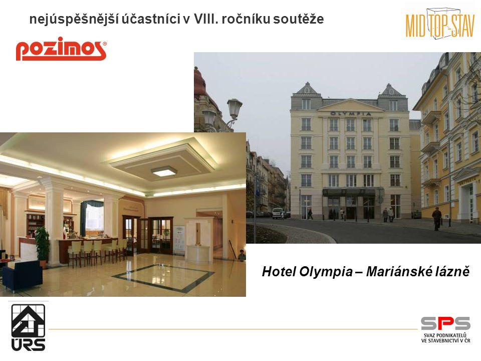 nejúspěšnější účastníci v VIII. ročníku soutěže Hotel Olympia – Mariánské lázně