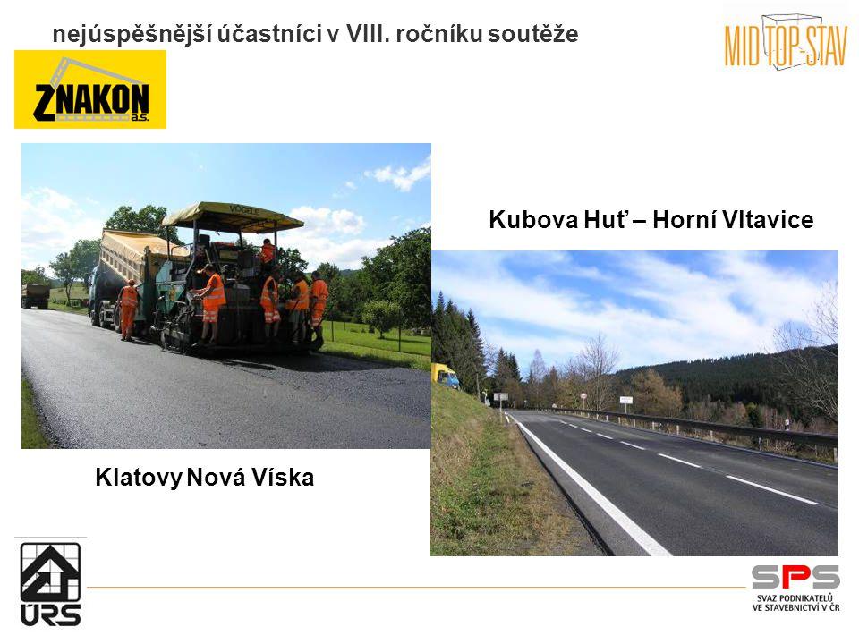 nejúspěšnější účastníci v VIII. ročníku soutěže Kubova Huť – Horní Vltavice Klatovy Nová Víska