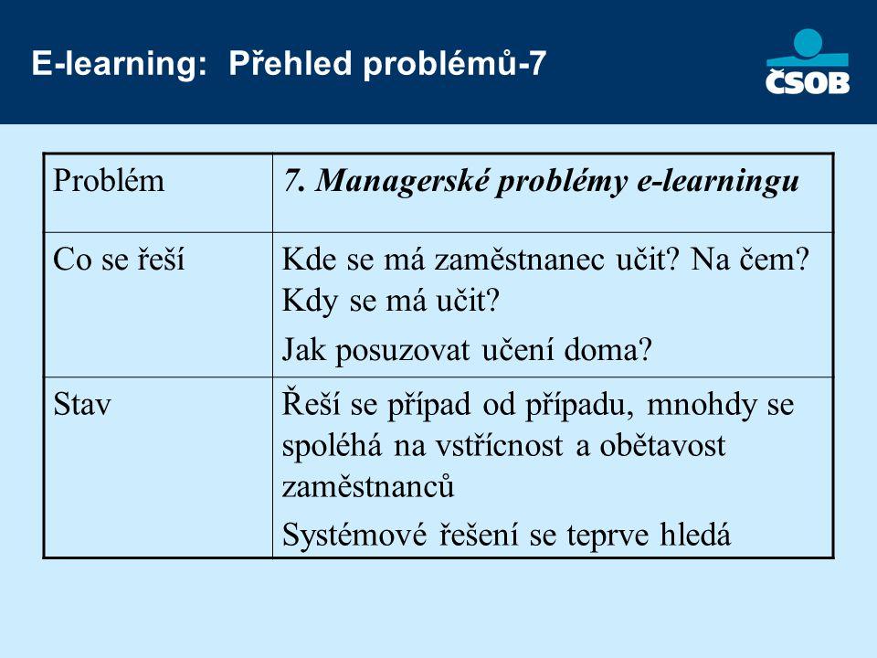 E-learning: Přehled problémů-7 Problém7.
