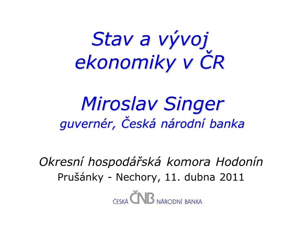 Stav a vývoj ekonomiky v ČR Okresní hospodářská komora Hodonín Prušánky - Nechory, 11.