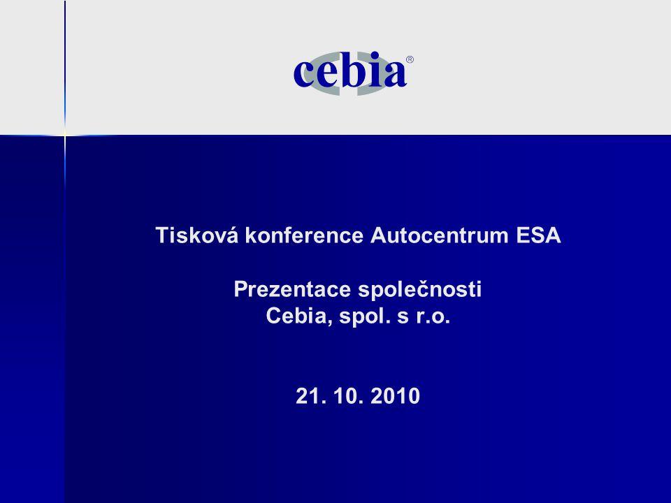 Tisková konference Autocentrum ESA Prezentace společnosti Cebia, spol. s r.o. 21. 10. 2010