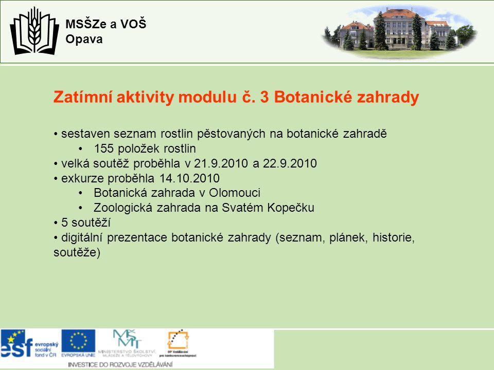 Zatímní aktivity modulu č.