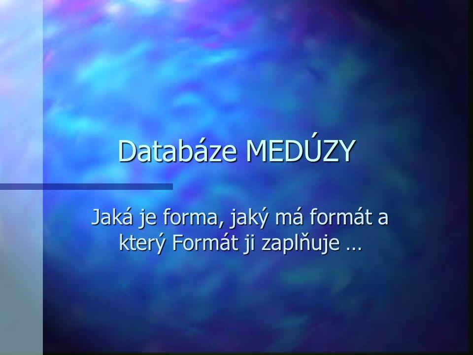 """Co to v praxi je, """"databáze MEDÚZY ."""