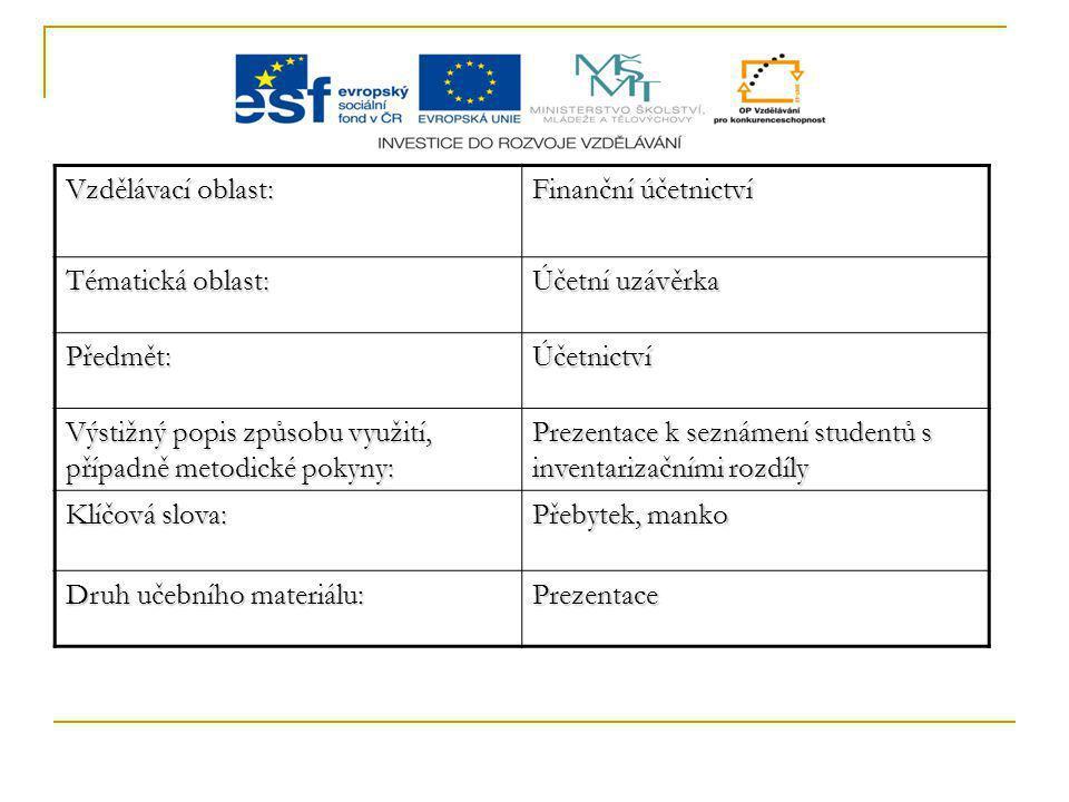Inventarizační rozdíly