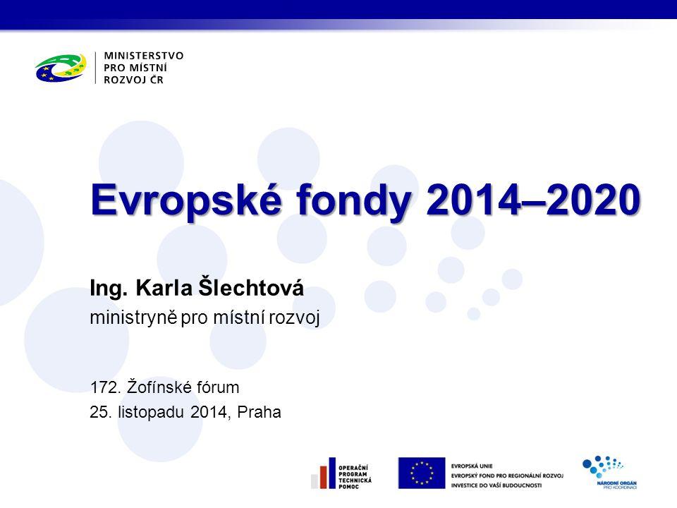 Aktuální stav a rizika v programovém období 2007–2013