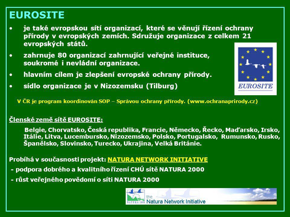 EUROSITE je také evropskou sítí organizací, které se věnují řízení ochrany přírody v evropských zemích. Sdružuje organizace z celkem 21 evropských stá