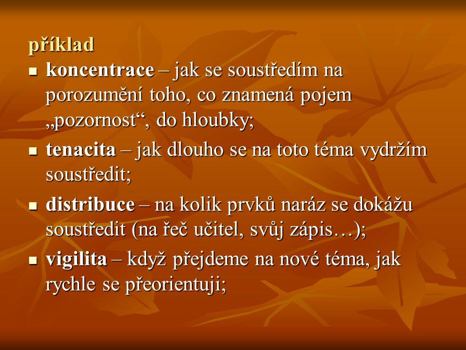 """příklad koncentrace – jak se soustředím na porozumění toho, co znamená pojem """"pozornost"""", do hloubky; koncentrace – jak se soustředím na porozumění to"""