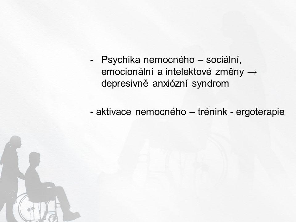 Hypokinetický syndrom - únava, vertebrogenní příznaky (nemoci), nadváha – obezita, ischemické příznaky, DM, bolest, snížená imunita, střídání nálad - dopor.