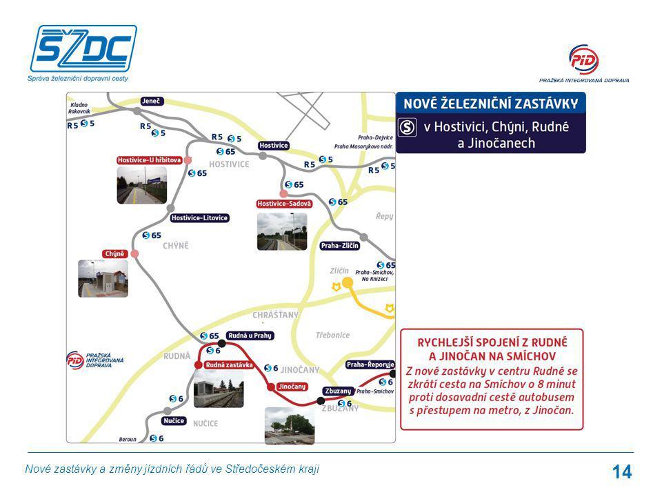 14 Nové zastávky a změny jízdních řádů ve Středočeském kraji