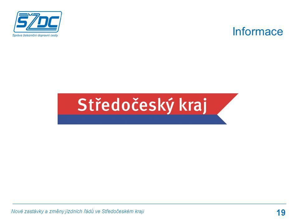 19 Informace Nové zastávky a změny jízdních řádů ve Středočeském kraji