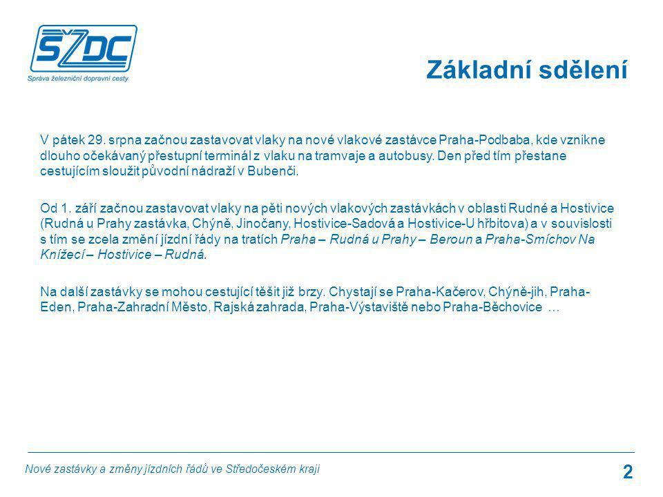 V pátek 29. srpna začnou zastavovat vlaky na nové vlakové zastávce Praha-Podbaba, kde vznikne dlouho očekávaný přestupní terminál z vlaku na tramvaje