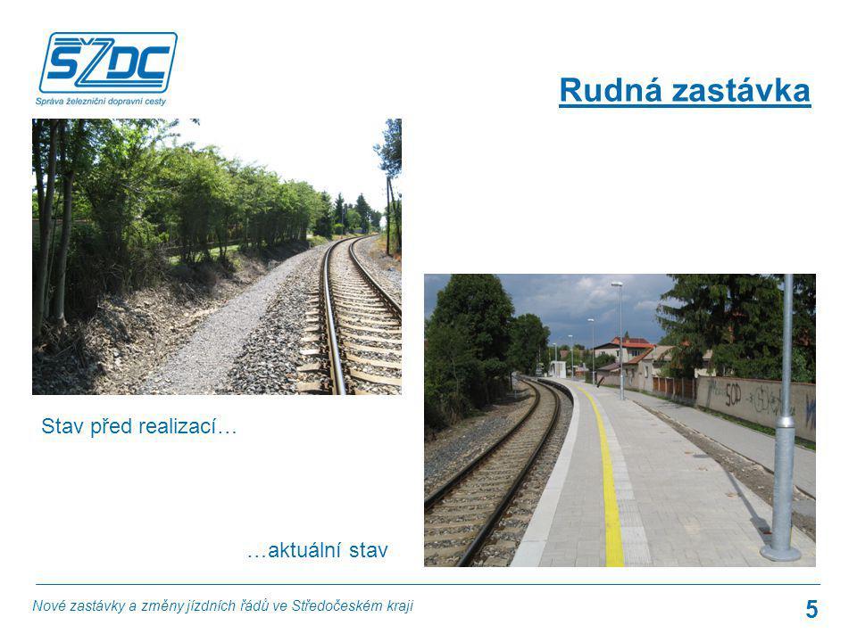 Informace o stavbě: délka rekonstruované koleje 1287 m délka nových nástupišť3 x 46 m čekárenský přístřešek pro cestující rozměry 4 x 2,08 m (3 kusy) osvětlení nástupiště – stožáry10 kusů Popis stavby: Stavba spočívá ve vybudování nových železničních zastávek s potřebným zázemím, bezbariérovým přístupem a napojením na stávající dopravní infrastrukturu.