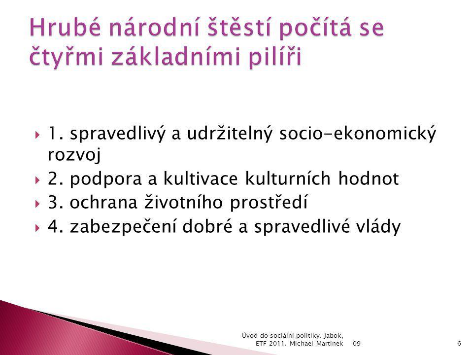  1. spravedlivý a udržitelný socio-ekonomický rozvoj  2.
