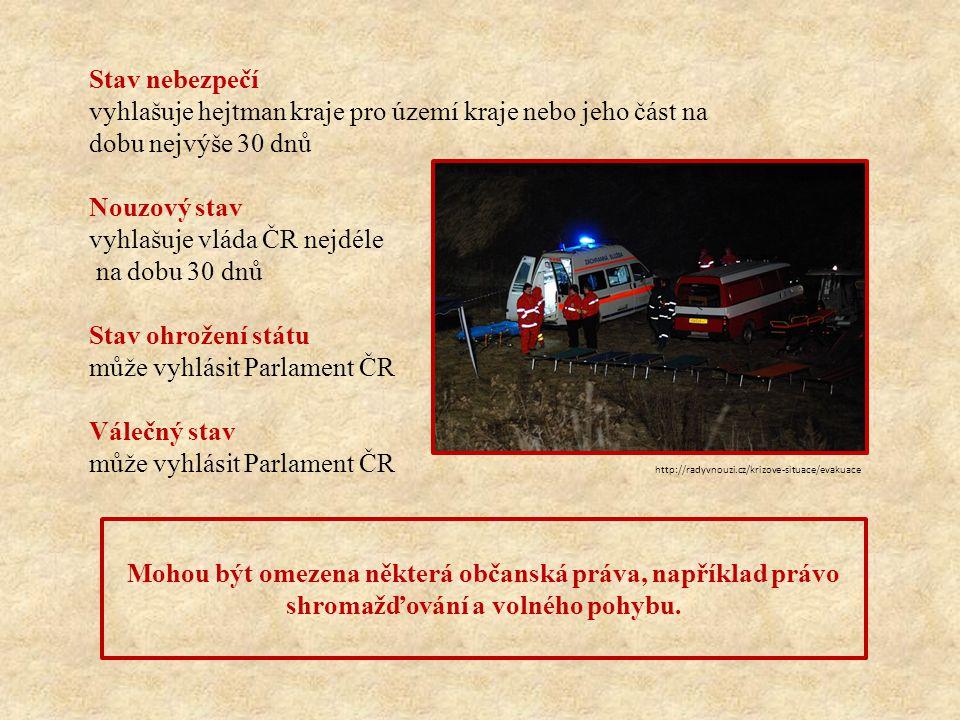 1.Z jakého důvodu může vyhlásit Parlament ČR stav ohrožení státu.