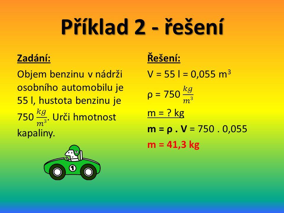 Příklad 2 - řešení