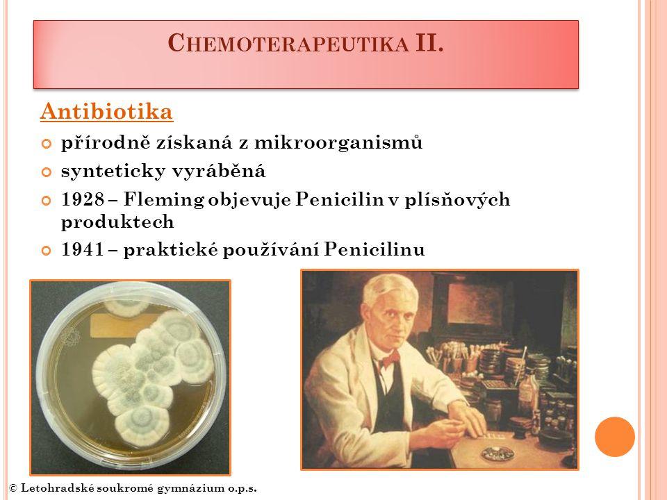 C HEMOTERAPEUTIKA II.