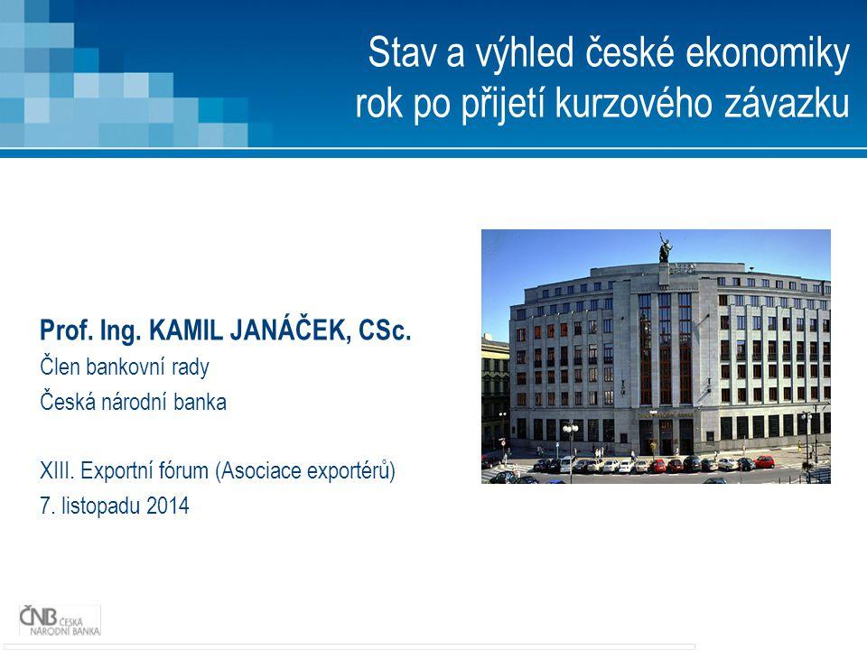 Prof. Ing. KAMIL JANÁČEK, CSc. Člen bankovní rady Česká národní banka XIII.