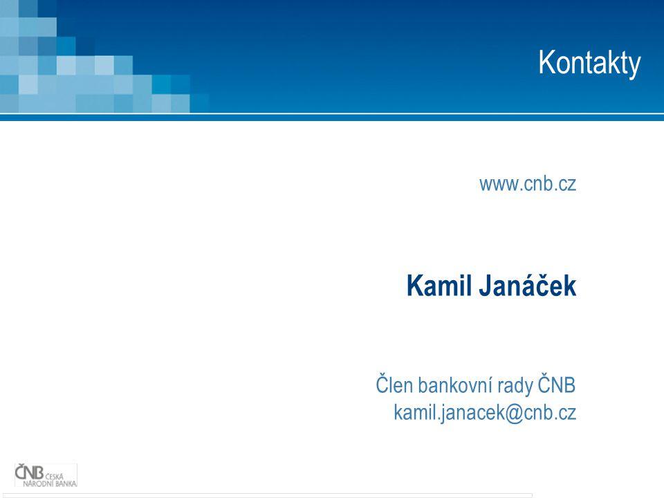 www.cnb.cz Kamil Janáček Člen bankovní rady ČNB kamil.janacek@cnb.cz Kontakty