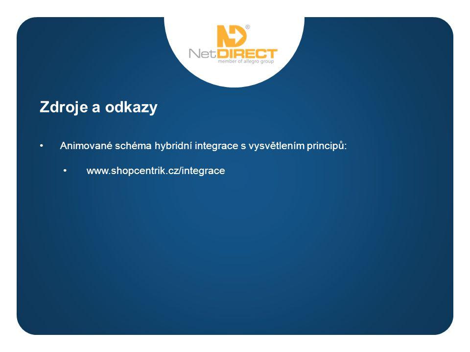 a Animované schéma hybridní integrace s vysvětlením principů: www.shopcentrik.cz/integrace Zdroje a odkazy