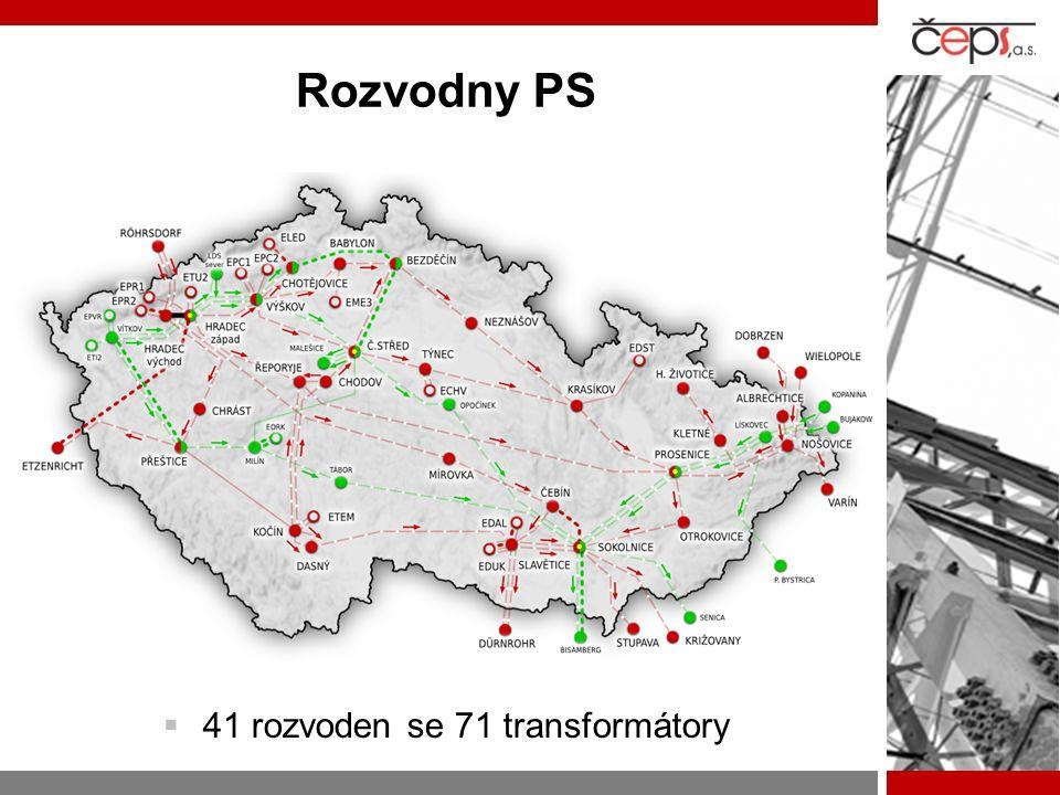 Rozvodny PS  41 rozvoden se 71 transformátory