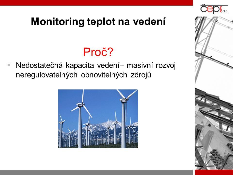 Proč  Nedostatečná kapacita vedení– masivní rozvoj neregulovatelných obnovitelných zdrojů
