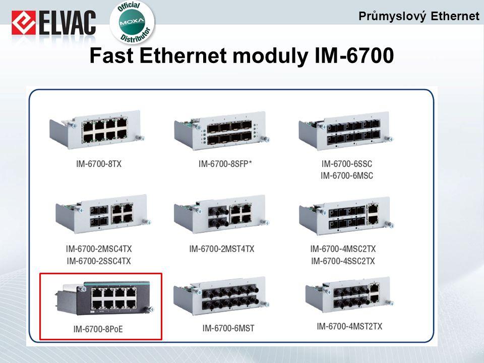 Průmyslový Ethernet Fast Ethernet moduly IM-6700