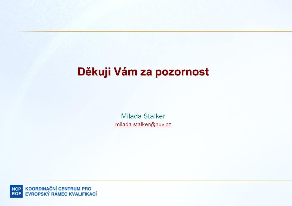 Děkuji Vám za pozornost Milada Stalker milada.stalker@nuv.cz